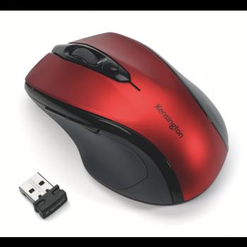 Bezdrátová počítačová myš střední velikosti Kensington Pro Fit™® Červená