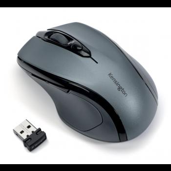 Bezdrátová počítačová myš střední velikosti Kensington Pro Fit®, černo-šedá